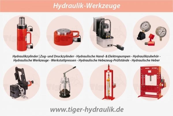HYDRAULIK-WERKZEUGE - Hydraulisch drücken, ziehen und heben mit TigerHebezeuge.