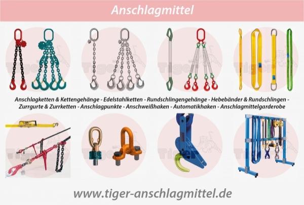 ANSCHLAGMITTEL - Für bewegliche Lastaufnahmen in der Hebetechnik - leicht, robust und langlebig.