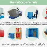UMWELT-LAGERTECHNIK - Umweltgefährdende Stoffe vorschriftsmäßig lagern und schützen - Lagertechnik für Fässer, IBC-Container und Kleingebinde.