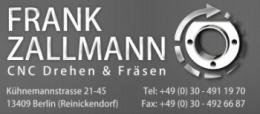 Frank Zallmann CNC Drehen & Fräsen